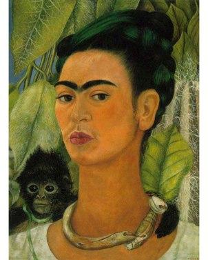self-portrait-with-a-monkey-1938 Frida Kalho